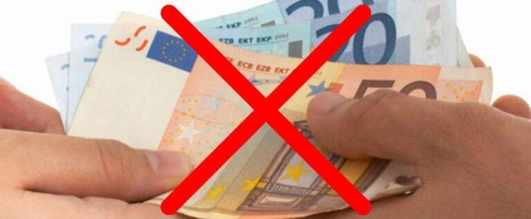 L'Italia dice: BASTA AI SOLDI CONTANTI!